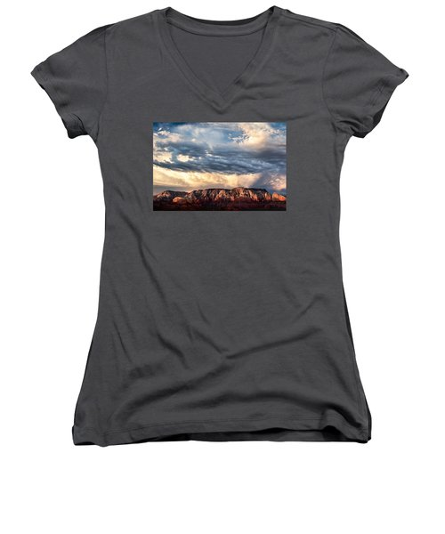 Red Rocks Of Sedona Women's V-Neck (Athletic Fit)