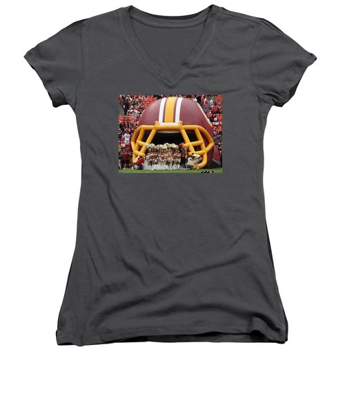 Redskins Cheerleaders Women's V-Neck T-Shirt