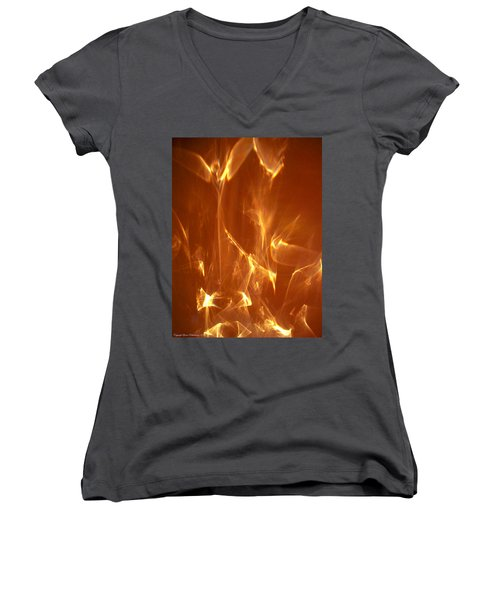 Women's V-Neck T-Shirt (Junior Cut) featuring the photograph Reflected Angel by Leena Pekkalainen