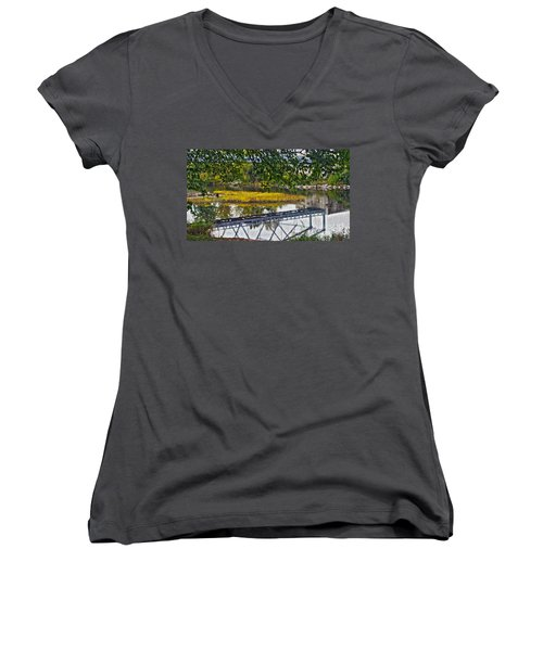 Reflected Women's V-Neck T-Shirt
