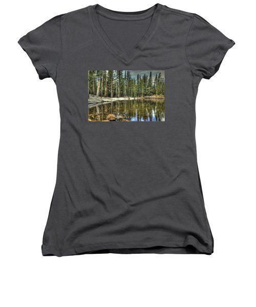 reflecting pond Carson Spur Women's V-Neck (Athletic Fit)