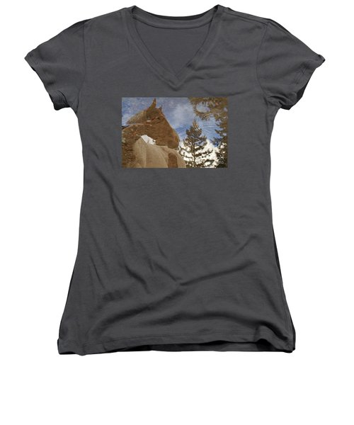 Upon Reflection Women's V-Neck T-Shirt (Junior Cut) by Michelle Twohig