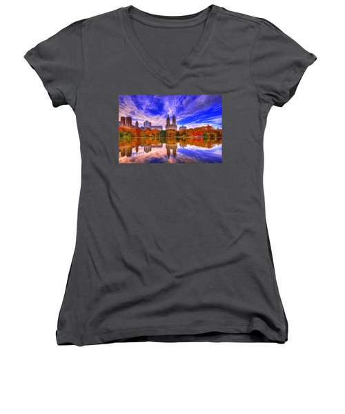 Reflection Of City Women's V-Neck T-Shirt