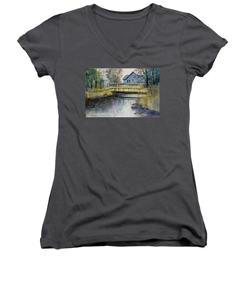 Reflections #2 Women's V-Neck (Athletic Fit)