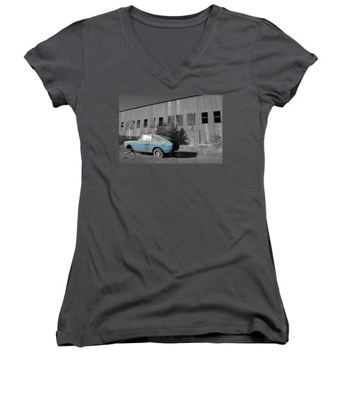 Reflections In Black And White Women's V-Neck