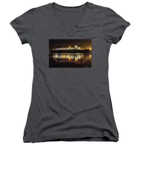 Reflections Of Queen Mary Women's V-Neck (Athletic Fit)