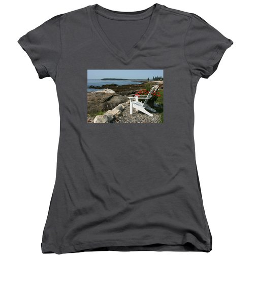 Women's V-Neck T-Shirt (Junior Cut) featuring the photograph Relaxing Afternoon by Mariarosa Rockefeller