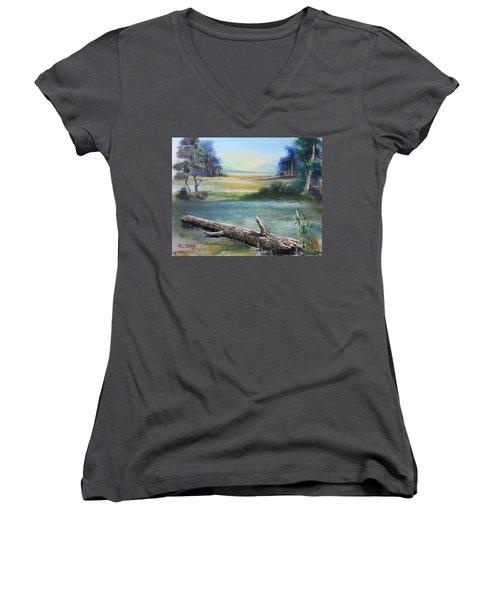 Remnant Women's V-Neck T-Shirt (Junior Cut) by Remegio Onia