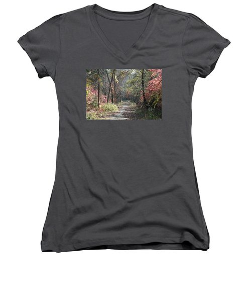 Women's V-Neck T-Shirt (Junior Cut) featuring the photograph Restless No. 2 by Neal Eslinger