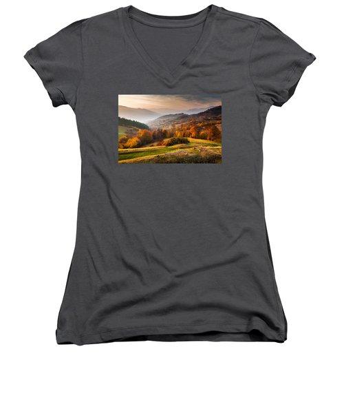 Rhodopean Landscape Women's V-Neck