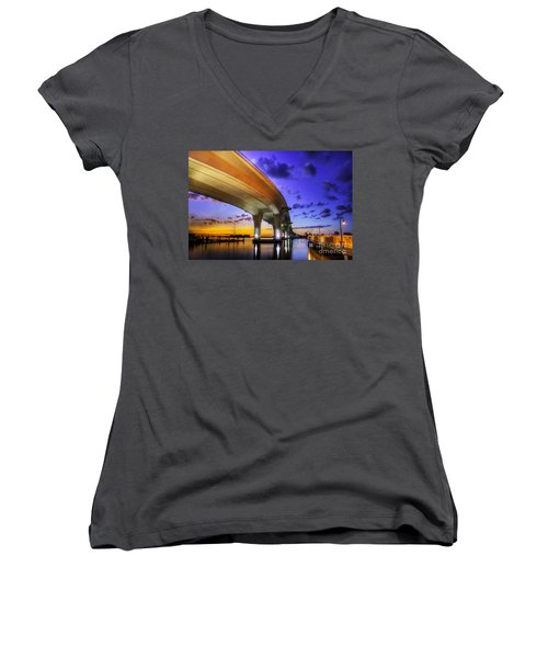 Ribbon In The Sky Women's V-Neck T-Shirt
