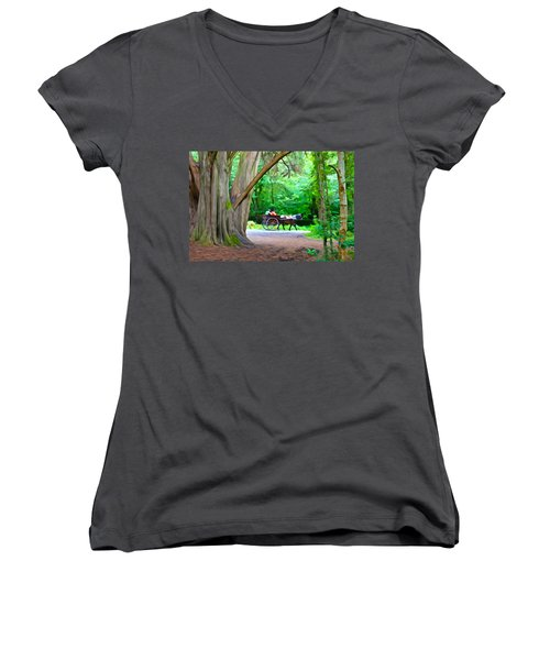 Riding In Style Women's V-Neck