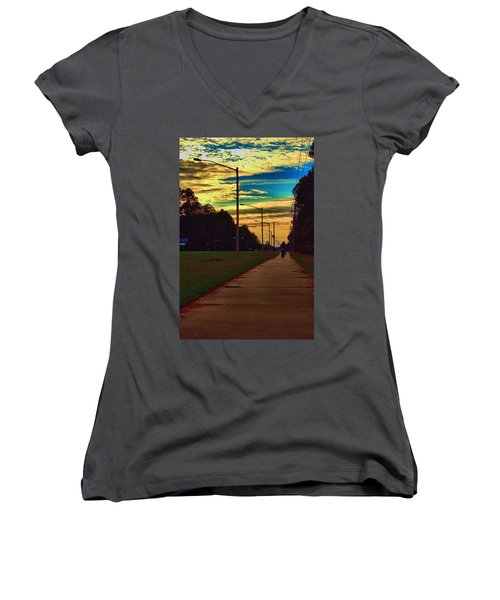 Riding Into The Sunset Women's V-Neck