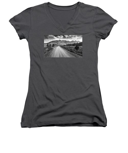 Riding To The Mountains Women's V-Neck (Athletic Fit)