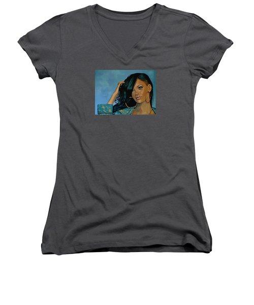 Rihanna Painting Women's V-Neck T-Shirt