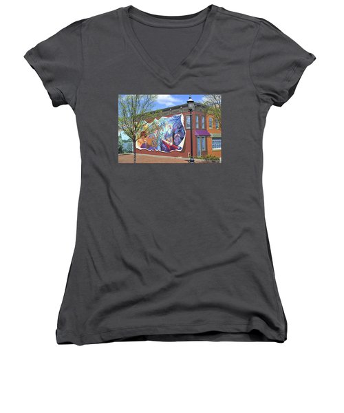 Riverside Gardens Park In Red Bank Nj Women's V-Neck