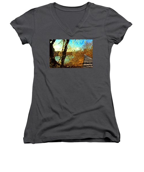 Riverwalk Women's V-Neck T-Shirt