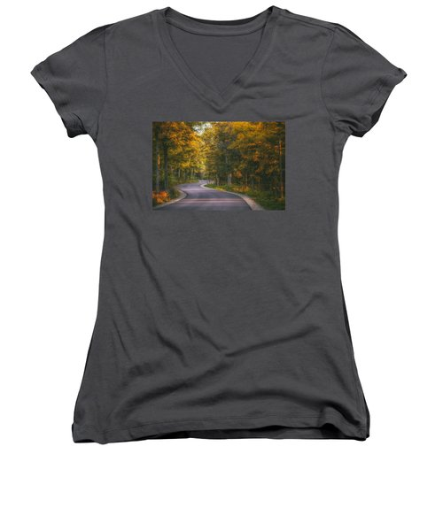 Road To Cave Point Women's V-Neck