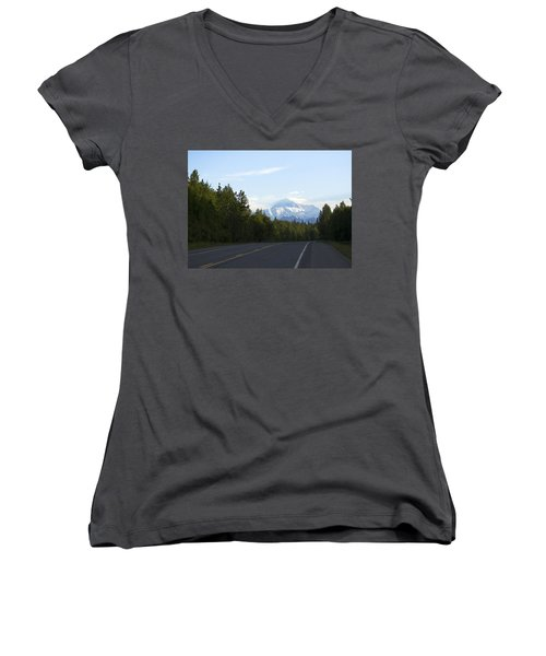 Road To Denali  Women's V-Neck (Athletic Fit)