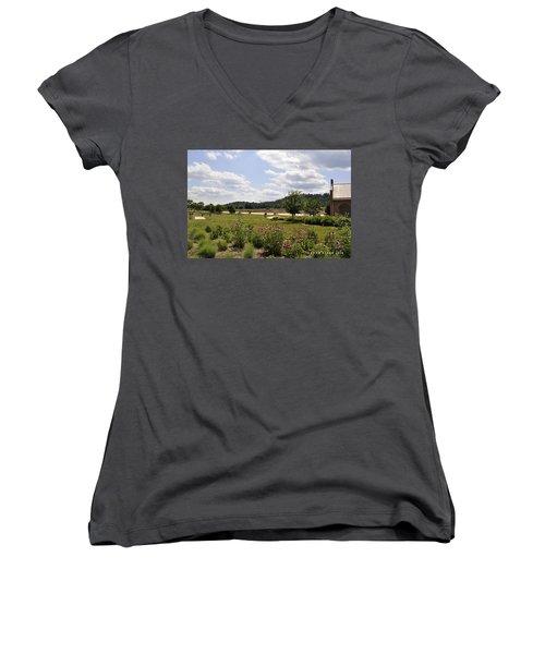 Women's V-Neck T-Shirt (Junior Cut) featuring the photograph Road Trip 2012 #2 by Verana Stark