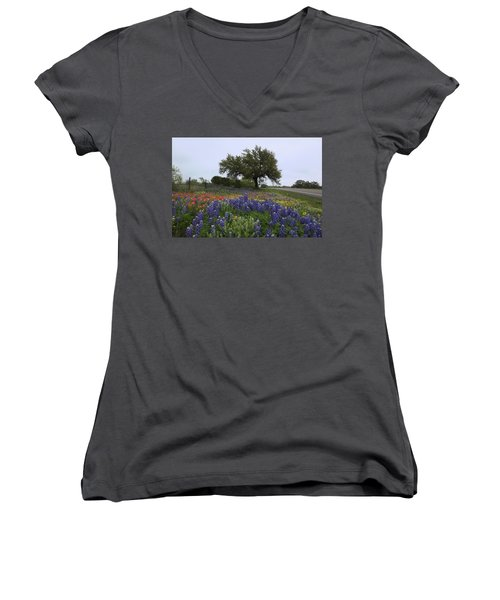 Roadside Splendor Women's V-Neck (Athletic Fit)
