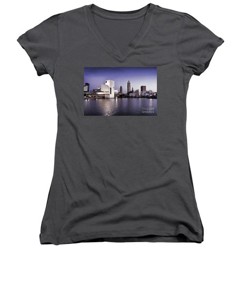 Rock And Roll Hall Of Fame - Cleveland Ohio - 2 Women's V-Neck