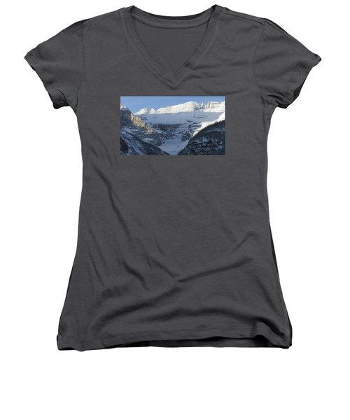Rocky Mountain Blue Women's V-Neck T-Shirt (Junior Cut) by Cheryl Miller