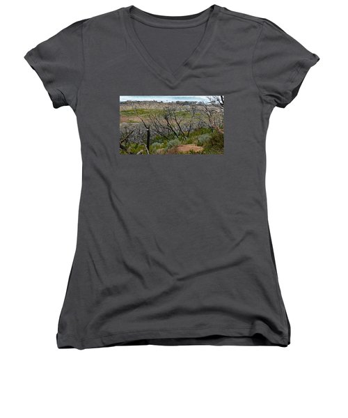 Rocky Outcrop Women's V-Neck (Athletic Fit)