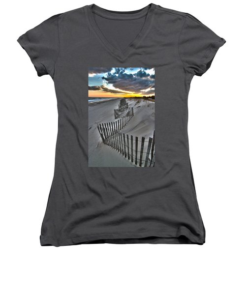 Rogers Beach First Day Of Spring 2014 Women's V-Neck