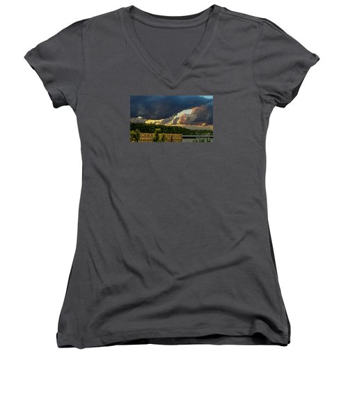 Storm Clouds Rolling In Women's V-Neck T-Shirt