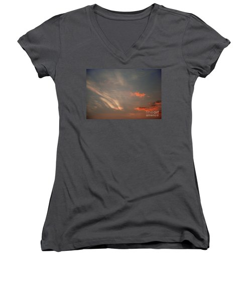 Romantic Sky Women's V-Neck T-Shirt (Junior Cut) by Kiran Joshi