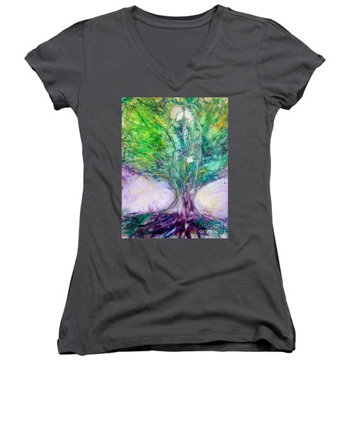 Rooted In Love Women's V-Neck (Athletic Fit)