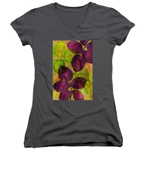 Rose Clippings Mural Wall Women's V-Neck T-Shirt