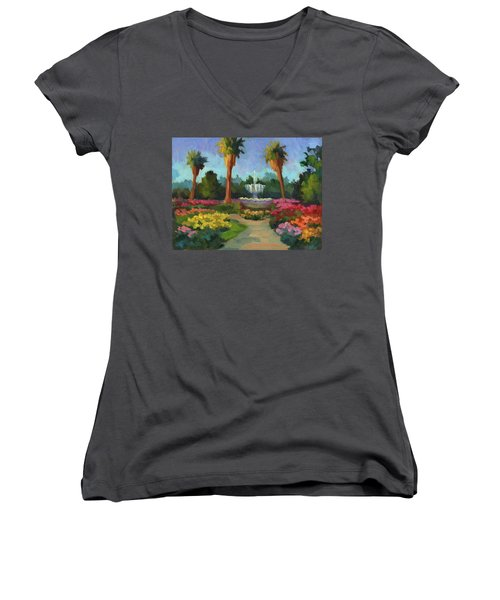 Rose Garden Women's V-Neck