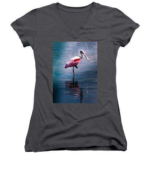 Roseate Spoonbill Women's V-Neck T-Shirt