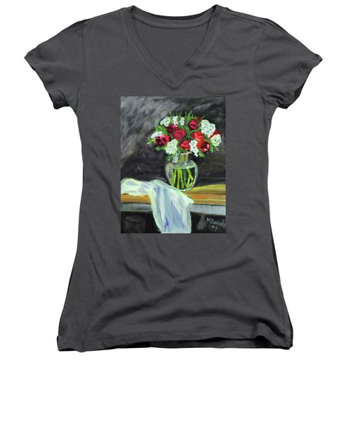 Roses For Mother's Day Women's V-Neck (Athletic Fit)