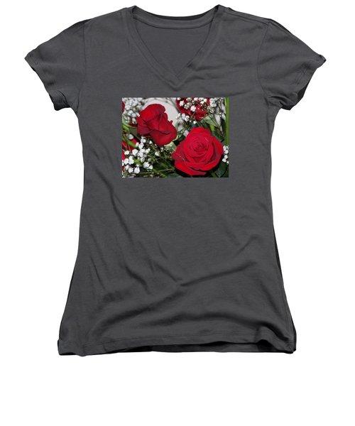 Roses Women's V-Neck T-Shirt