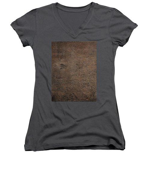 Rosetta Stone Texture Women's V-Neck T-Shirt (Junior Cut) by Gina Dsgn