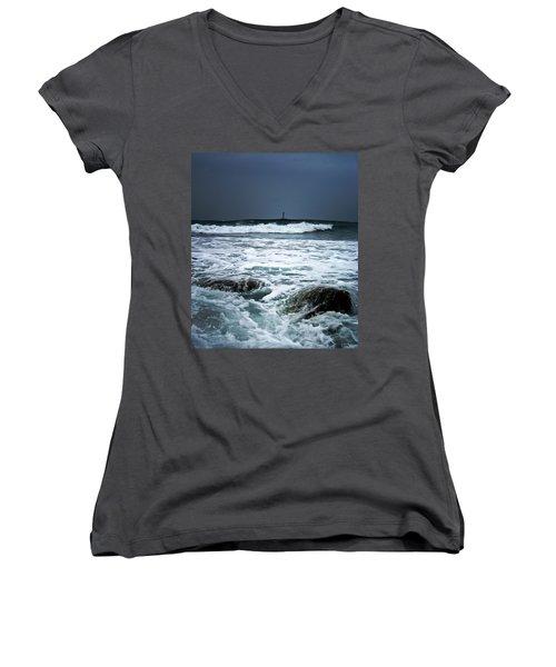 Coastal Storm Women's V-Neck T-Shirt