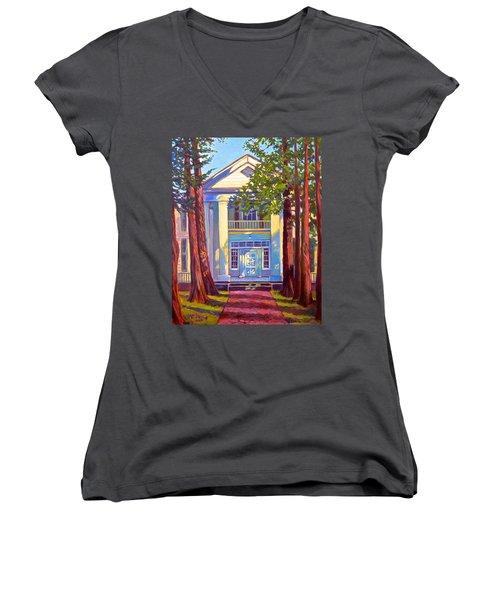 Rowan Oak Women's V-Neck T-Shirt (Junior Cut) by Jeanette Jarmon