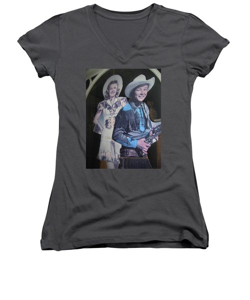 Roy Rogers And Dale Evans #2 Cut-outs Tombstone Arizona 2004 Women's V-Neck