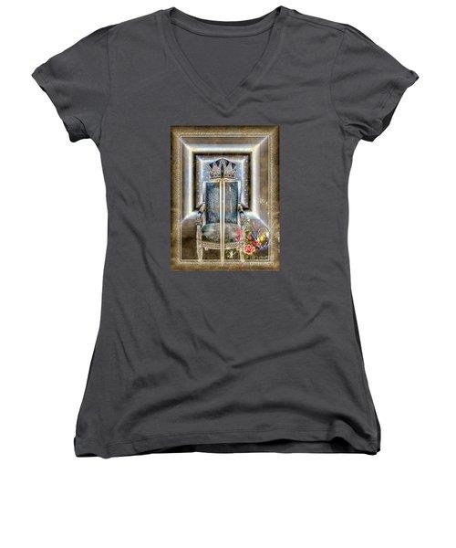 Royal Golden Sword Women's V-Neck T-Shirt