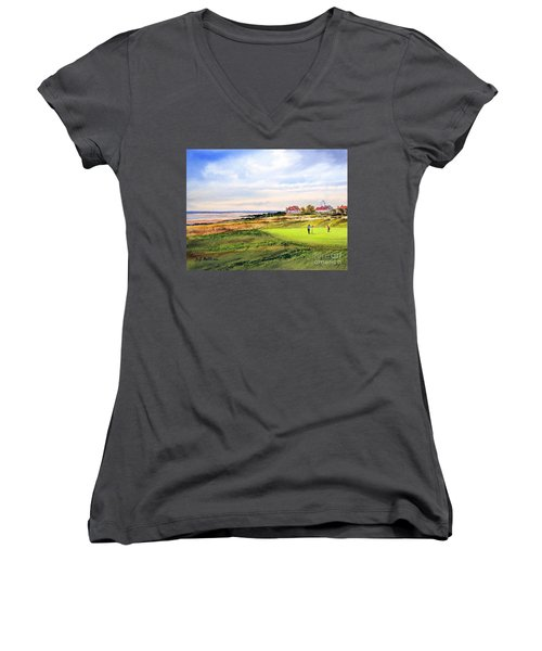 Royal Liverpool Golf Course Hoylake Women's V-Neck (Athletic Fit)