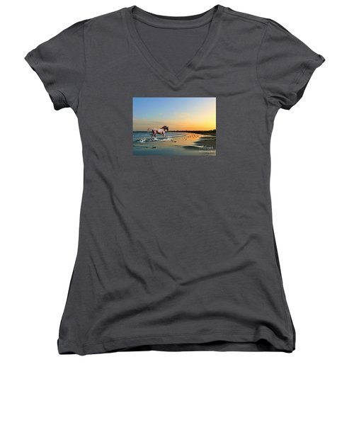 Run Like The Wind Women's V-Neck (Athletic Fit)