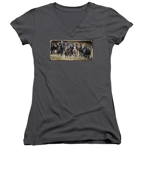 Running Wild Women's V-Neck
