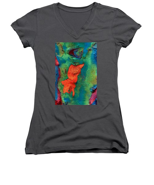 Women's V-Neck T-Shirt (Junior Cut) featuring the photograph Rust Is Beautiful by Jerry Gammon