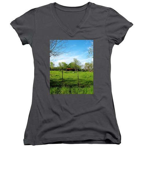Rustic Land Of Beauty - Rural Texas Women's V-Neck T-Shirt