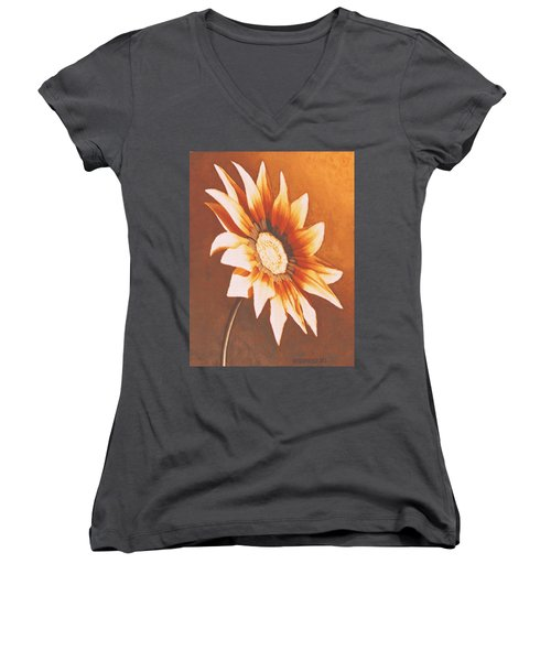 Rusty Gazania Women's V-Neck (Athletic Fit)