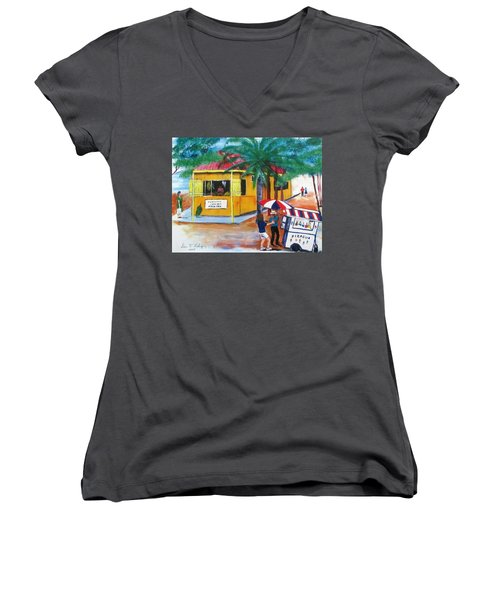 Sabor A Puerto Rico Women's V-Neck T-Shirt