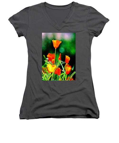 Sacramento Delta Poppies Women's V-Neck